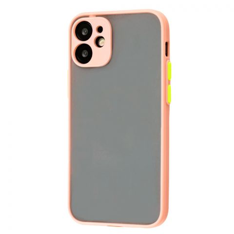 Чехол для iPhone 12 Mini LikGus Totu с защитой камеры-Pink