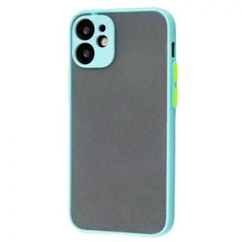 Чехол для iPhone 12 Mini LikGus Totu с защитой камеры-Turquoise