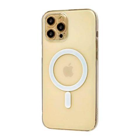 Чехол для iPhone 12 Mini MagSafe J-case с защитой камеры-Прозрачный