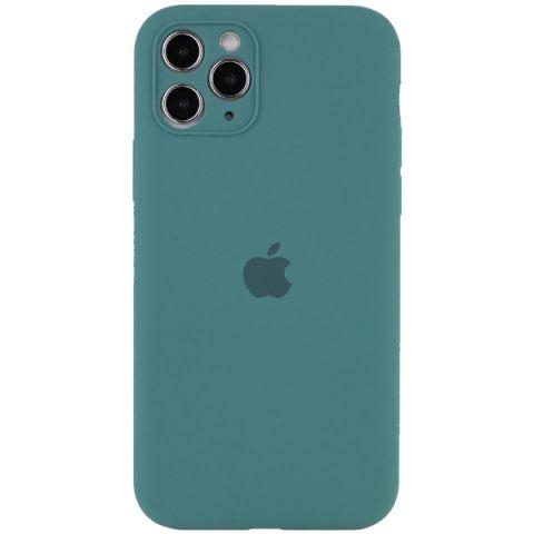 Чехол для iPhone 12 Mini Silicone Case Full Camera Protective (с защитой камеры)-Pine Green
