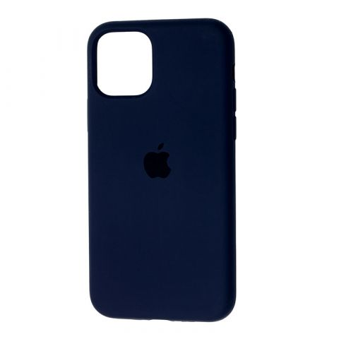 Силиконовый чехол для iPhone 12 Mini Silicone Case Full (с закрытой нижней частью)-Midnight Blue