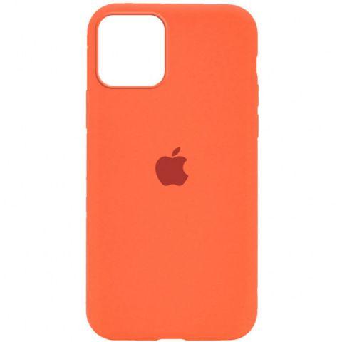Силиконовый чехол для iPhone 12 Mini Silicone Case Full (с закрытой нижней частью)-Orange