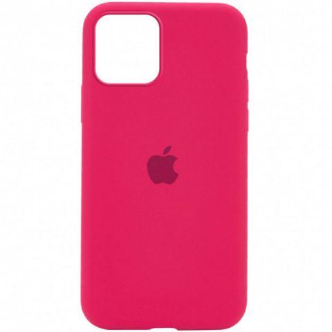 Силиконовый чехол для iPhone 12 Mini Silicone Case Full (с закрытой нижней частью)-Rose Red