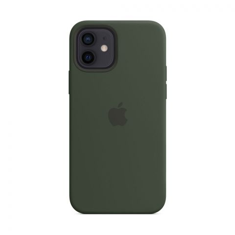 Силиконовый чехол для iPhone 12 Mini Silicone Case MagSafe-Cyprus Green