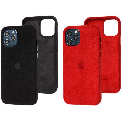 Замшевый чехол для iPhone 12 / 12 Pro Alcantara