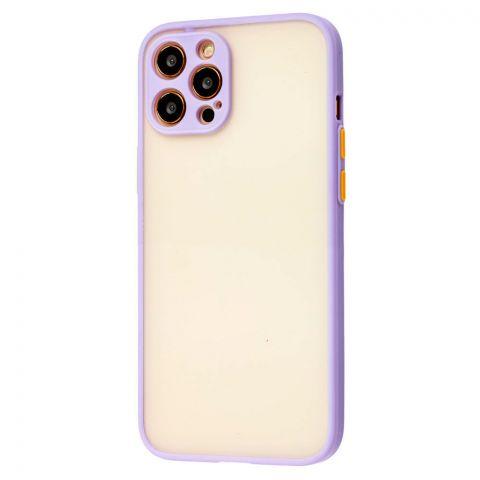 Чехол для iPhone 12 / 12 Pro LikGus Totu с защитой камеры-Light Violet