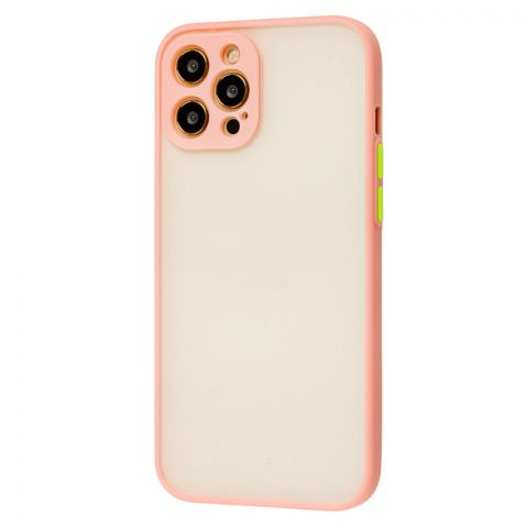 Чехол для iPhone 12 / 12 Pro LikGus Totu с защитой камеры-Pink
