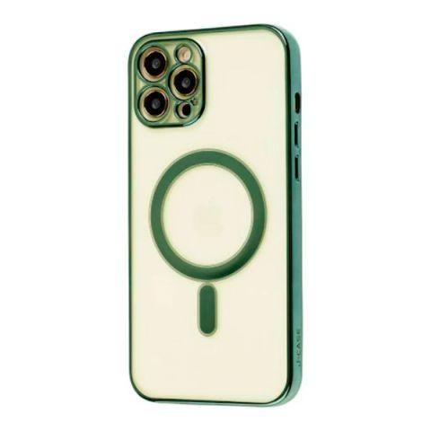 Чехол для iPhone 12 / 12 Pro MagSafe J-case с защитой камеры-Dark Green