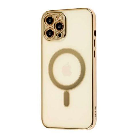 Чехол для iPhone 12 / 12 Pro MagSafe J-case с защитой камеры-Gold