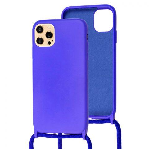 Чехол для iPhone 12 Pro Max Lanyard Ожерелье со шнурком через плечо-Ultra Violet