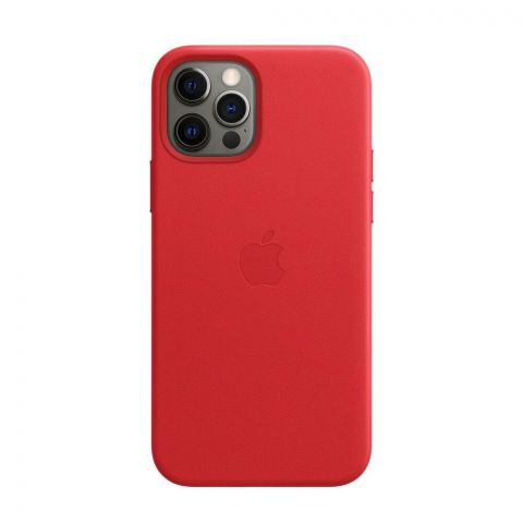 Кожаный чехол для iPhone 12 Pro Max Leather Case with MagSafe-(PRODUCT) RED
