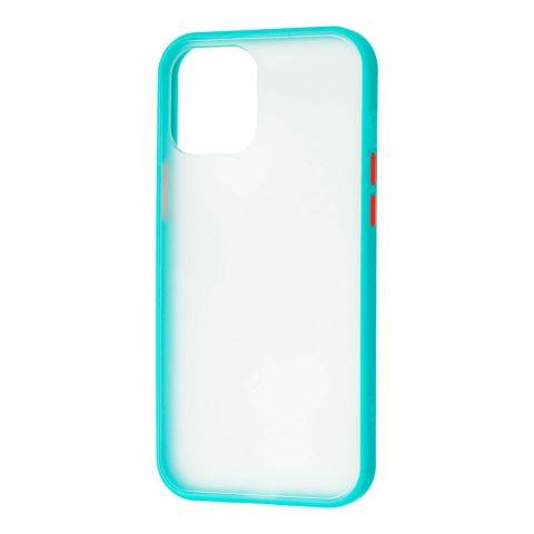 Чехол для iPhone 12 Pro Max LikGus Maxshield-Turquoise