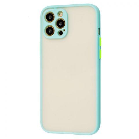 Чехол для iPhone 12 Pro Max LikGus Totu с защитой камеры-Turquoise