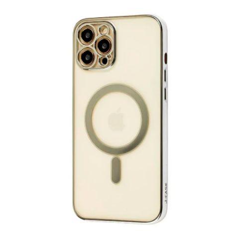 Чехол для iPhone 12 Pro Max MagSafe J-case с защитой камеры-Silver