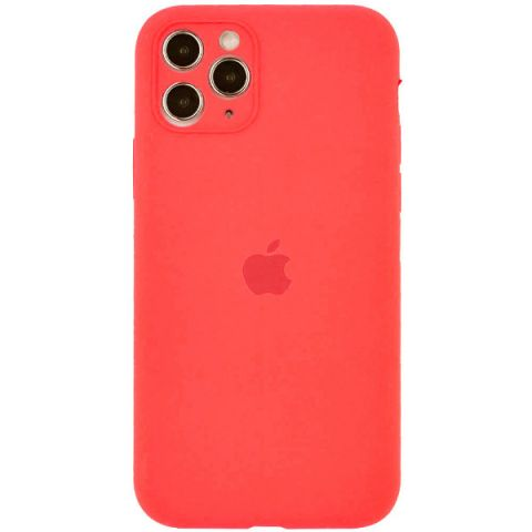 Чехол для iPhone 12 Pro Max Silicone Case Full Camera Protective (с защитой камеры)-Pink Citrus