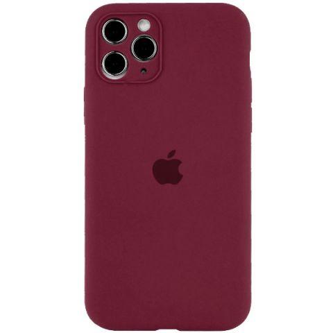 Чехол для iPhone 12 Pro Max Silicone Case Full Camera Protective (с защитой камеры)-Plum