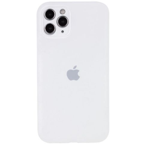 Чехол для iPhone 12 Pro Max Silicone Case Full Camera Protective (с защитой камеры)-White