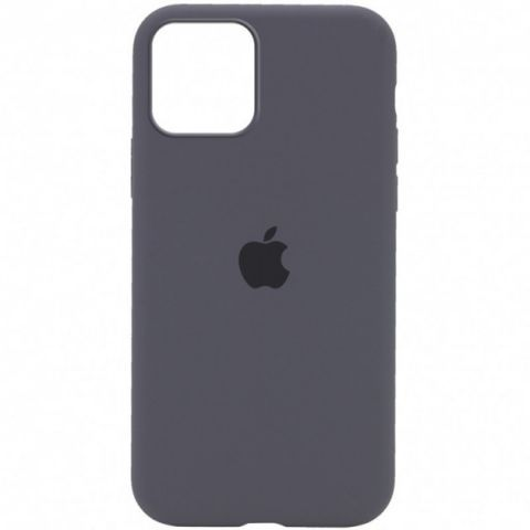 Силиконовый чехол для iPhone 12 Pro Max Silicone Case Full (с закрытой нижней частью)-Charcoal Grey