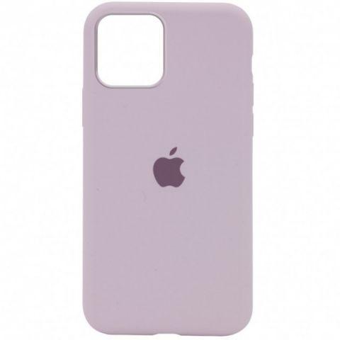 Силиконовый чехол для iPhone 12 Pro Max Silicone Case Full (с закрытой нижней частью)-Lavender