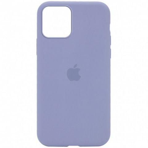 Силиконовый чехол для iPhone 12 Pro Max Silicone Case Full (с закрытой нижней частью)-Lavender Gray