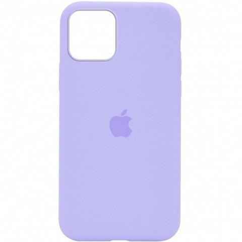 Силиконовый чехол для iPhone 12 Pro Max Silicone Case Full (с закрытой нижней частью)-Lilac
