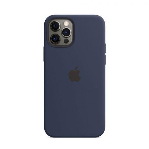 Силиконовый чехол для iPhone 12 Pro Max Silicone Case Full (с закрытой нижней частью)-Midnight Blue