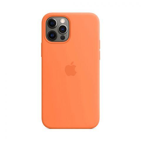 Силиконовый чехол для iPhone 12 Pro Max Silicone Case Full (с закрытой нижней частью)-Orange
