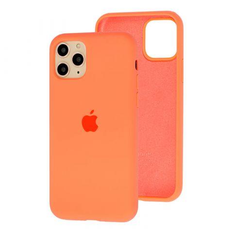 Силиконовый чехол для iPhone 12 Pro Max Silicone Case Full (с закрытой нижней частью)-Papaya