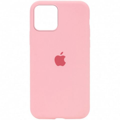 Силиконовый чехол для iPhone 12 Pro Max Silicone Case Full (с закрытой нижней частью)-Pink