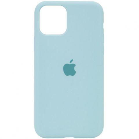 Силиконовый чехол для iPhone 12 Pro Max Silicone Case Full (с закрытой нижней частью)-Sea Blue