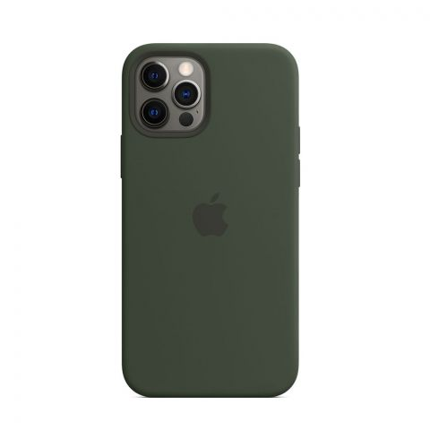 Силиконовый чехол для iPhone 12 Pro Max Silicone Case MagSafe-Cyprus Green