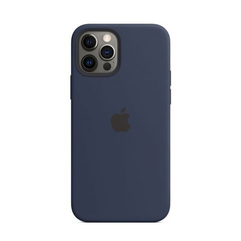 Силиконовый чехол для iPhone 12 Pro Max Silicone Case MagSafe-Deep Navy