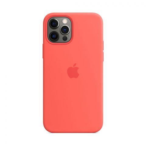 Силиконовый чехол для iPhone 12 Pro Max Silicone Case MagSafe-Pink Citrus