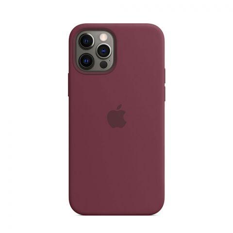 Силиконовый чехол для iPhone 12 Pro Max Silicone Case MagSafe-Plum