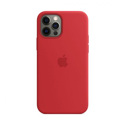 Силиконовый чехол для iPhone 12 Pro Max Silicone Case MagSafe-(PRODUCT) RED