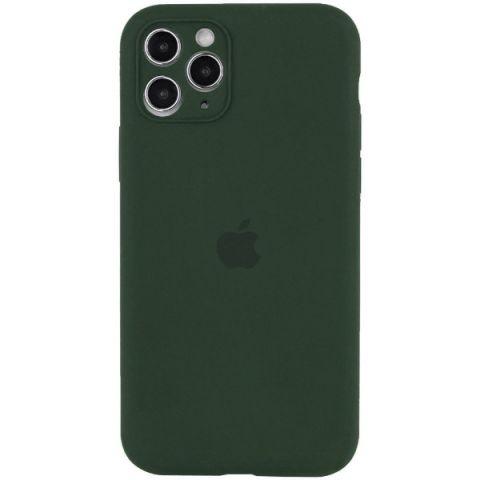 Чехол для iPhone 12 / 12 Pro Silicone Case Full Camera Protective (с защитой камеры)-Cyprus Green