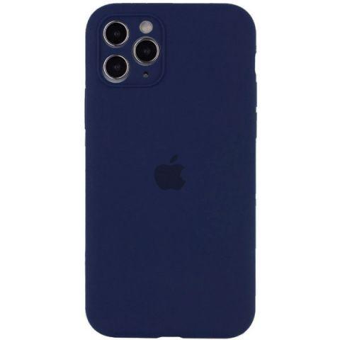 Чехол для iPhone 12 / 12 Pro Silicone Case Full Camera Protective (с защитой камеры)-Deep Navy