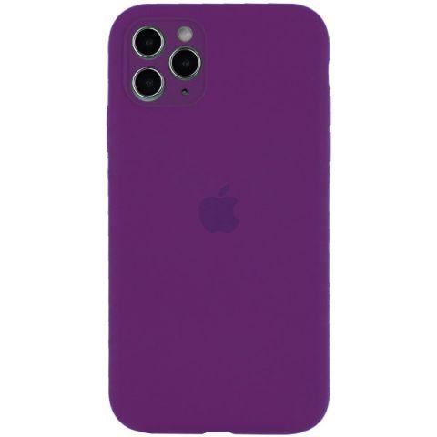 Чехол для iPhone 12 / 12 Pro Silicone Case Full Camera Protective (с защитой камеры)-Grape