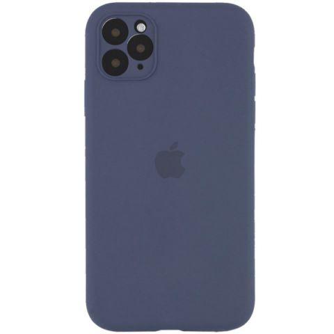 Чехол для iPhone 12 / 12 Pro Silicone Case Full Camera Protective (с защитой камеры)-Lavender Gray
