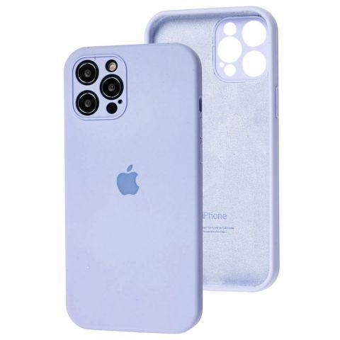 Чехол для iPhone 12 / 12 Pro Silicone Case Full Camera Protective (с защитой камеры)-Lilac Blue