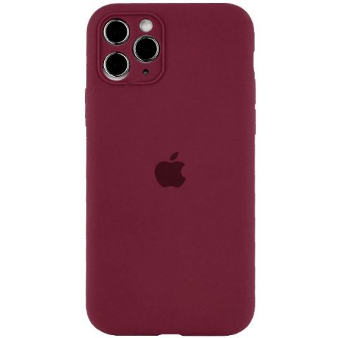Чехол для iPhone 12 / 12 Pro Silicone Case Full Camera Protective (с защитой камеры)-Plum