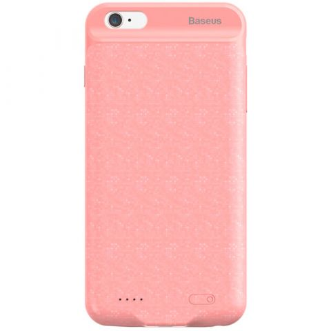 Чехол-аккумулятор для iPhone 7 Plus / 8 Plus Baseus Plaid Backpack Power Bank 3650mAh-Pink