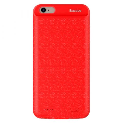 Чехол-аккумулятор для iPhone 7 Plus / 8 Plus Baseus Plaid Backpack Power Bank 3650mAh-Red