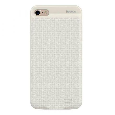 Чехол-аккумулятор для iPhone 7/8 Baseus Plaid Backpack Power Bank 2500mAh-White