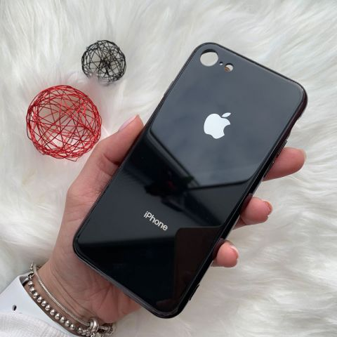 Чехол для iPhone 7/8 Glass Case Logo-Black
