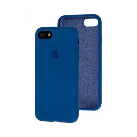 Силиконовый чехол для iPhone 7/8 Silicone Case Full (с закрытой нижней частью)-Alaskan Blue