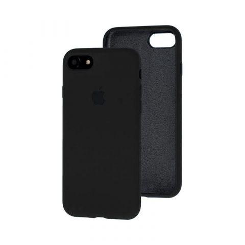 Силиконовый чехол для iPhone 7/8 Silicone Case Full (с закрытой нижней частью)-Black