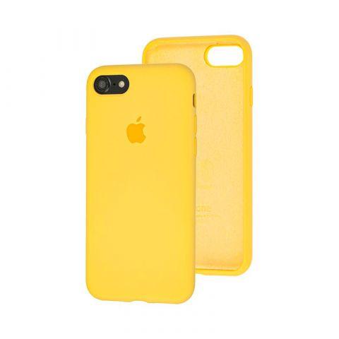 Силиконовый чехол для iPhone 7/8 Silicone Case Full (с закрытой нижней частью)-Canary Yellow