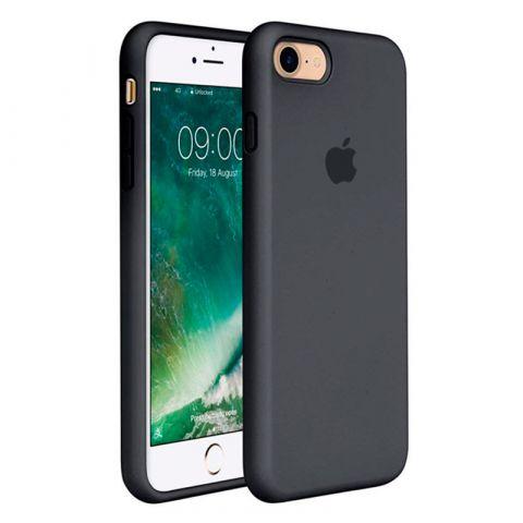 Силиконовый чехол для iPhone 7/8 Silicone Case Full (с закрытой нижней частью)-Charcoal Grey