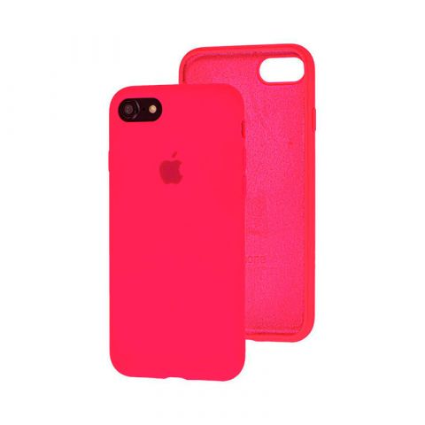 Силиконовый чехол для iPhone 7/8 Silicone Case Full (с закрытой нижней частью)-Electric Pink